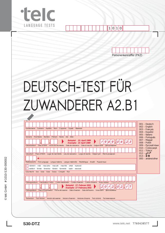 Briefe Schreiben Dtz : Dtz form online und überall deutsch lernen